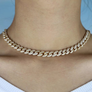 Miami Cuban 18k Gold Plated Choker - Adjustable
