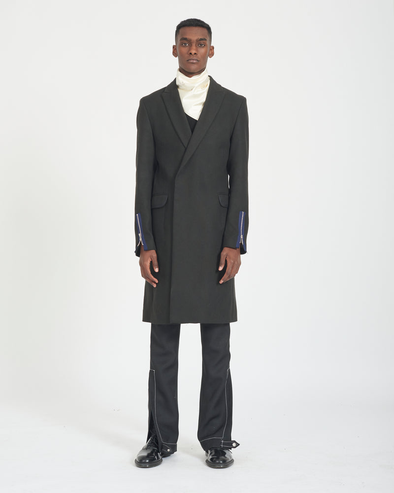 Zipped Sleeve Overcoat