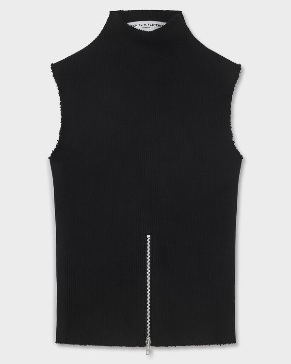 Ribbed Zip Vest