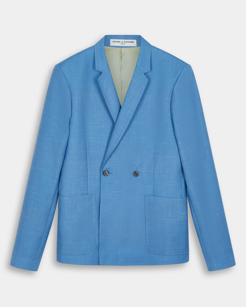 Double Breasted Tailored Jacket - Air Force Blue
