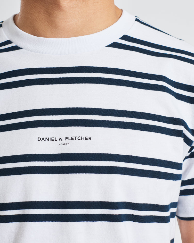 Double Stripe Logo Tee