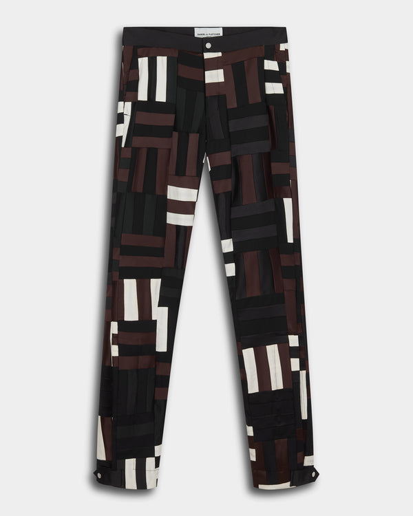 Patchwork Split Hem Trousers