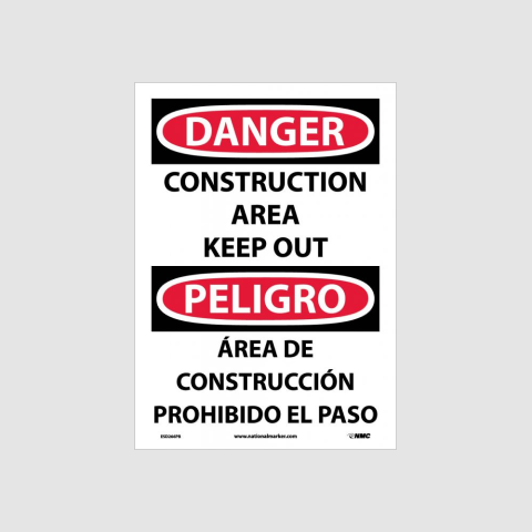 Bilingual Construction Signs | www.signslabelsandtags.com