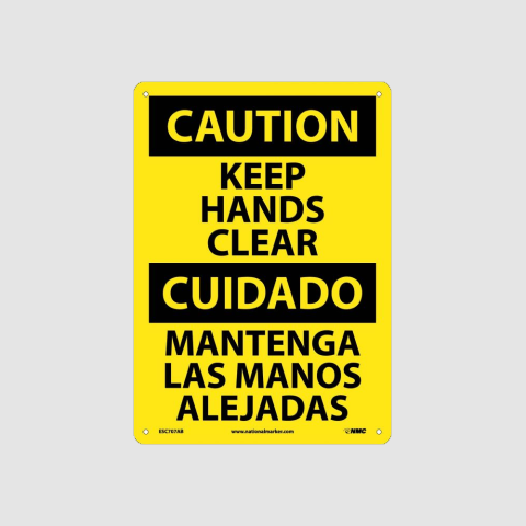 Bilingual Equipment Hazard Signs | www.signslabelsandtags.com