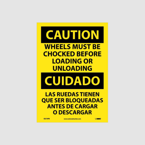 Bilingual Facility Traffic Signs | www.signslabelsandtags.com