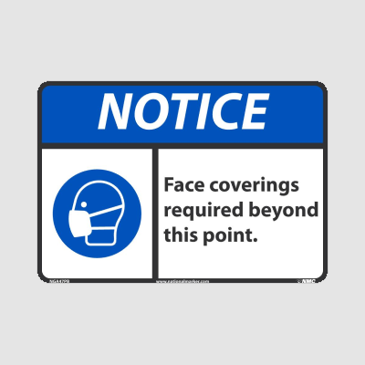 Mask and Face Covering Signs | www.signslabelsandtags.com