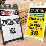 A-Frame and Cone Floor Signs | www.signslabelsandtags.com