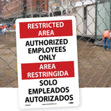 Bilingual and Spanish Only Safety Signs | www.signslabelsandtags.com