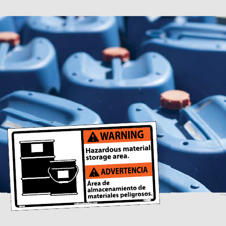 Bilingual Chemical and HazMat Signs | www.signslabelsandtags.com