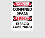 Bilingual Confined Space Signs | www.signslabelsandtags.com