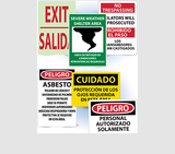 Bilingual and Spanish Safety Signs | www.signslabelsandtags.com