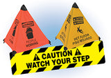 Cleat and Cone Floor Signs | www.signslabelsandtags.com