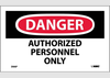 Authorized Personnel Only Safety Labels | www.signslabelsandtags.com