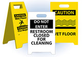 Double Sided Floor Signs | www.signslabelsandtags.com