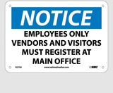 Employee and Visitor Signs | www.signslabelsandtags.com