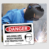 Eye Protection Signs | www,signslabelsandtags.com