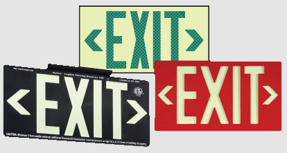 Glo Brite Eco Exit Signs | www.signslabelsandtags.com