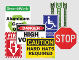Going Green Safety Signs   www.signslabelsandtags.com