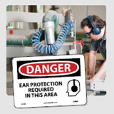 Hearing Protection Signs | www.signslabelsandtags.com