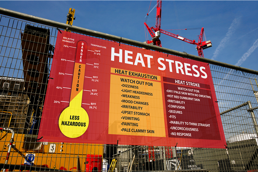 Heat Stress Products | www.signslabelsandtags.com