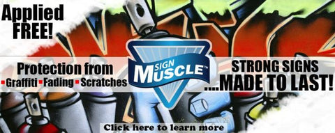 National Marker Sign Muscle Protection From Graffiti, Fading and Scratches Applied Free