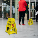 Double Sided Reversible Floor Signs | www.signslabelsandtags.com