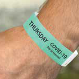 Screening Wristband | www.signslabelsandtags.com