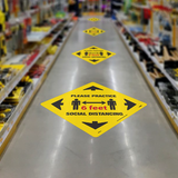 Walk On Floor Signs | www.signslabelsandtags.com