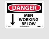 Working Above and Below Signs | www.signslabelsandtags.com