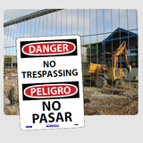 Bilingual Admittance and Security Signs | www.signslabelsandtags.com