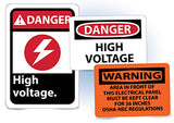 National Electrical Hazard Signs