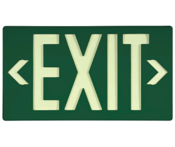 EXIT, GLOBRITE ECO EXIT, SINGLE FACE GREEN W/BRACKET, BLACK, 8.25X15.25