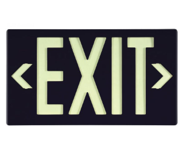 EXIT, GLOBRITE ECO EXIT, DOUBLE FACE BLACK W/BRACKET, BLACK, 8.25X15.25