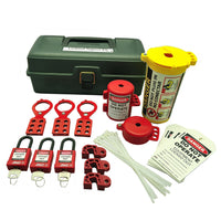 "Lockout Toolbox Kit With Safety Locks | 7129 | 13""W x 6.5""H x 5""D 