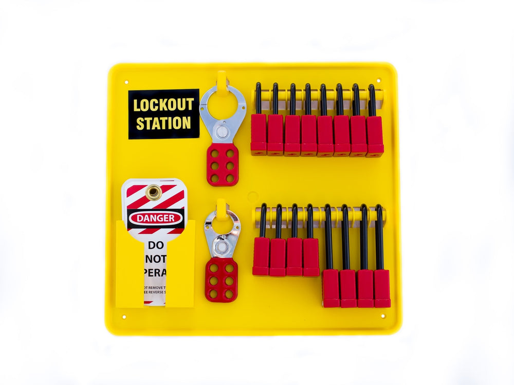 Mini Lockout Tagout Station With 7 Locks | 7372 | Lockout Tagout Station Is Stocked