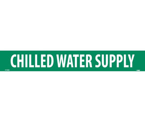 "PIPEMARKER, PS VINYL, CHILLED WATER SUPPLY, 2X14  1 1/4"" CAP HEIGHT"