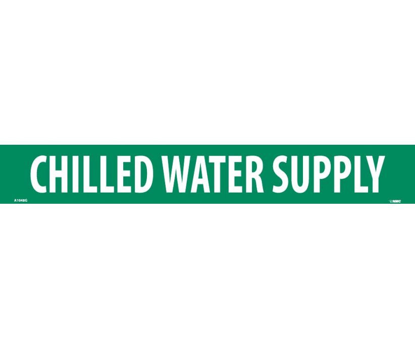 PIPEMARKER, PS VINYL, CHILLED WATER SUPPLY, 2X14  1 1/4