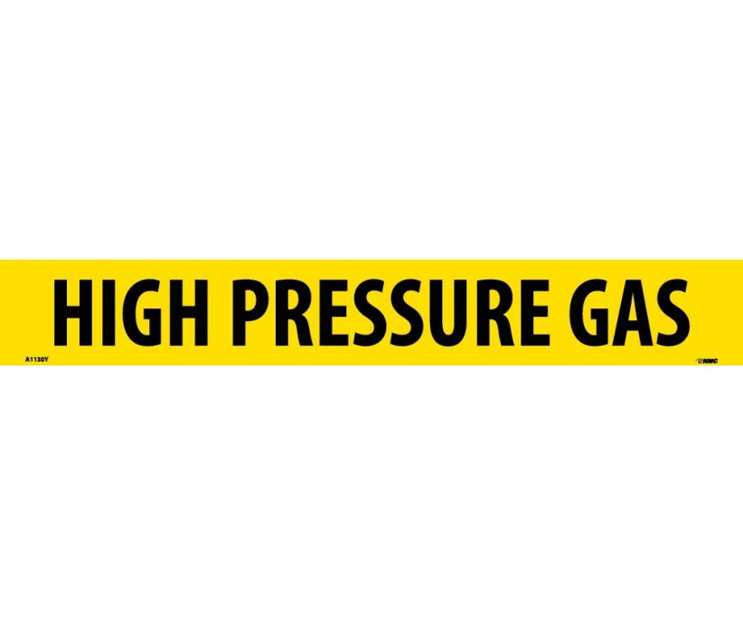 PIPEMARKER, PS VINYL, HIGH PRESSURE GAS, 2X14  1 1/4