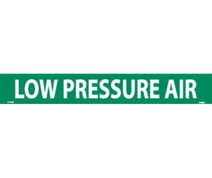 PIPEMARKER, LOW PRESSURE AIR, 2X14, 1 1/4 LETTER,  PS VINYL