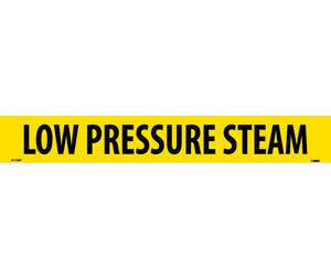 "PIPEMARKER, PS VINYL, LOW PRESSURE STEAM, 2X14  1 1/4"" CAP HEIGHT"