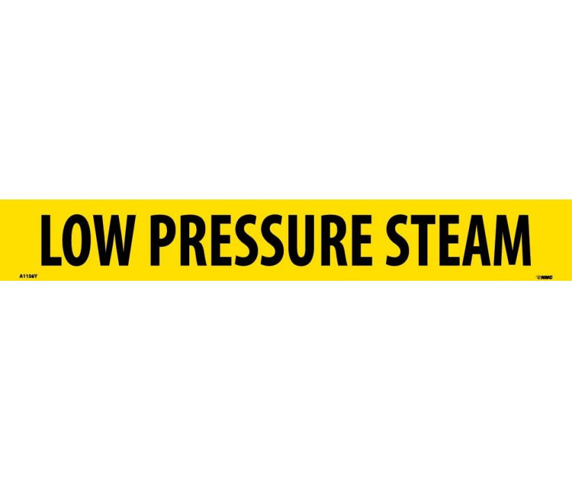 PIPEMARKER, PS VINYL, LOW PRESSURE STEAM, 2X14  1 1/4