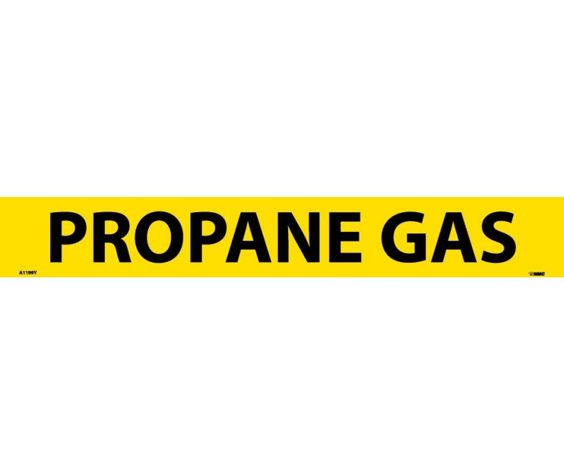 PIPEMARKER, PS VINYL, PROPANE GAS, 2X14  1 1/4