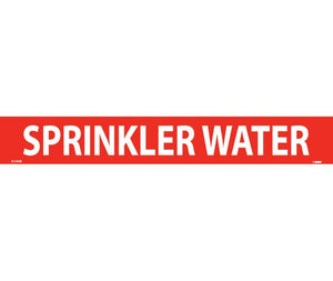 "PIPEMARKER, PS VINYL, SPRINKLER WATER, 2X14  1 1/4"" CAP HEIGHT"
