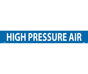 PIPEMARKER, HIGH PRESSURE AIR, 2X14, 1 1/4 LETTER,  PS VINYL