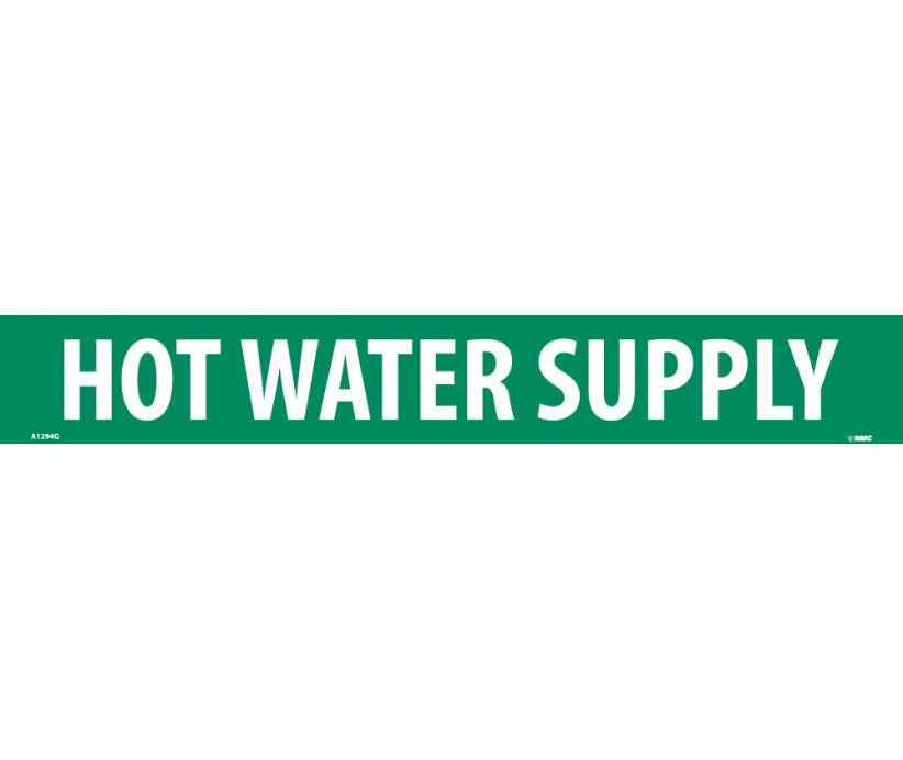 PIPEMARKER, HOT WATER SUPPLY, 2X14, 1 1/4 LETTER,  PS VINYL