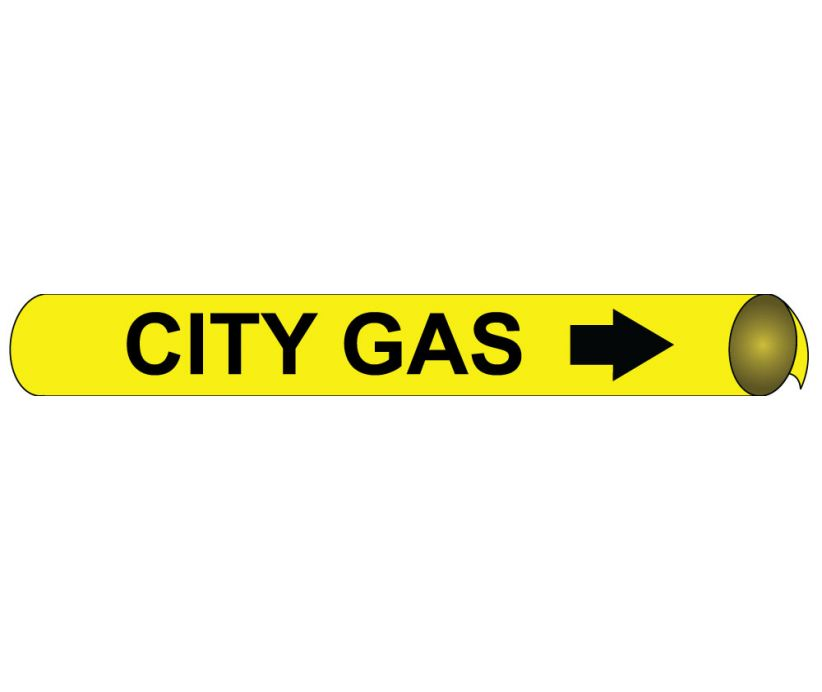 PIPEMARKER PRECOILED, CITY GAS B/Y, FITS 3/4