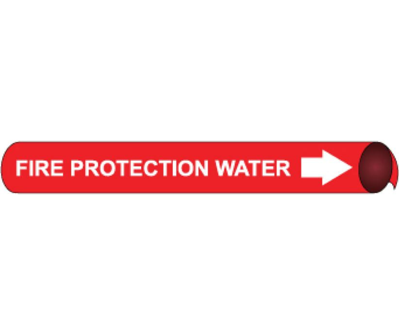 PIPEMARKER PRECOILED, FIRE PROTECTION WATER W/R, FITS 3/4