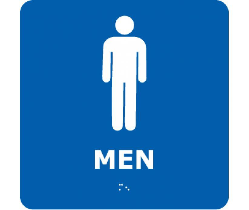 ADA, BRAILLE, MEN, BLUE, 8X8