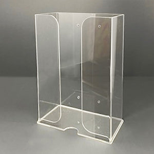 Acrylic Dust Mask Dispenser. Wall mount. Designed to hold 3 boxes of disposable, individually packaged dust masks.
