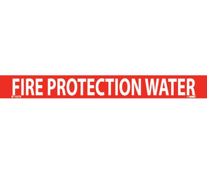 "PIPEMARKER, PS VINYL, FIRE PROTECTION WATER, 1X9  3/4"" CAP HEIGHT"